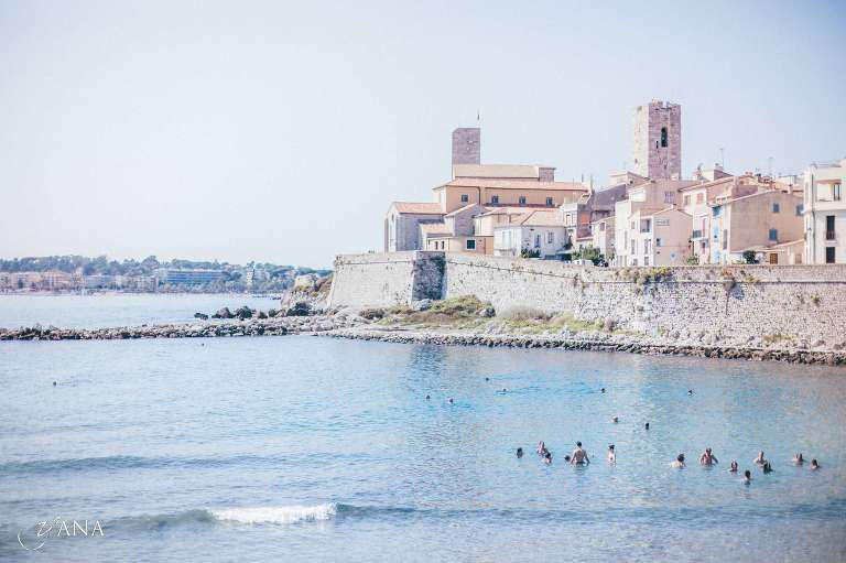 South of France beach wedding photos Antibes Cote d'Azur
