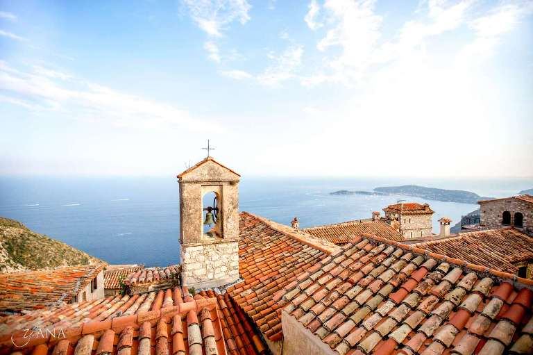 roof tops at Eze, South of France wedding, Cote d'Azur, French Riviera, yanaphotography.eu
